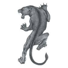 black panther temporary tattoo to show strength