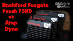 1991 rockford fosgate punch 75hd amp on the amp dyno youtube