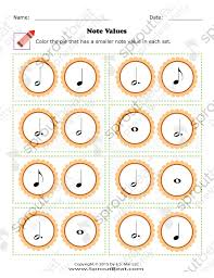 worksheets thanksgiving note value