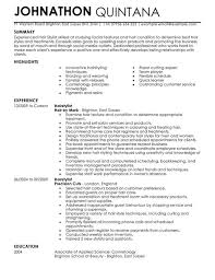 a template of a cv hairstylist cv example for personal services livecareer