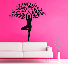 169 Best Wall Decals Images by Yoga Wall Decals Tree Design Stickers Meditation Gym
