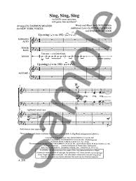 sing sing sing with a swing louis prima livres de chansons louis prima partition louis prima