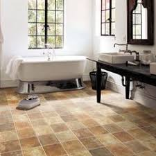 Bathroom Vinyl Flooring by Vinyl That Looks Like Slate Tile But With Zero Maintenance
