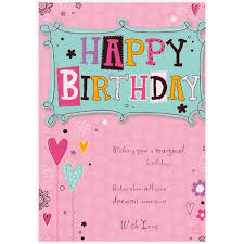 male and female birthday cards from 85p