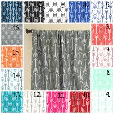 Coral And Gray Curtains Arrow Curtain Panel Set Navy Blue Arrow Curtain Panels Coral