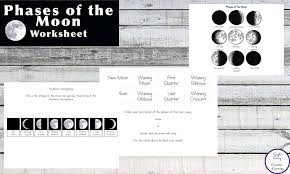 free printable phases of the moon simple living creative