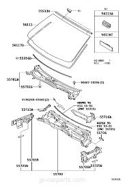 lexus parts worldwide cowl panel u0026 windshield glass lexus part list jp carparts com