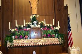 Easter Church Decorations Ideas by 28 Altar Decorations Sacred Heart Coshocton The Altar Of