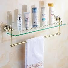 Bathroom Shower Organizers Gold Bathroom Shower Glass Shelf Bath Shower Shelf Corner