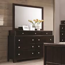 Palliser Dresser Coaster Madison Dresser With Nine Dovetail Drawers And Mirror With