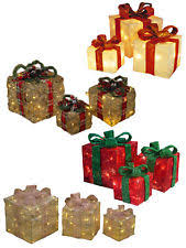 indoor lighted gift boxes christmas present lights ebay