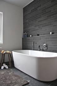 Modern Tiled Bathroom Bathroom Black Subway Tile White Bathtub Bathroom Designs Tiles