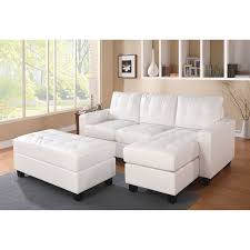 claire leather reversible sectional and ottoman acme lyssa reversible chaise sectional and ottoman bonded leather