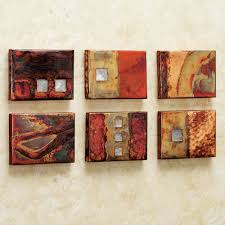 Modern Wall Art Copper Studio Metal Wall Art Tile Set