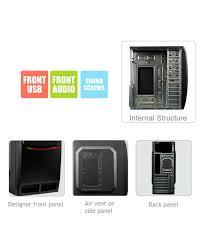 Desktop Cabinet Online Zebronics Poise Desktop Pc Cabinet Without Smps Zeb 115r Buy