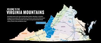 Counties Of Virginia Map by Welcome To The Virginia Mountains Region Alleghany Highlands