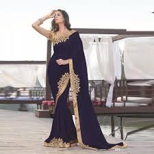 2017 navy blue indian mermaid formal evening dress gold applique