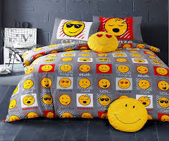 single bed duvet quilt cover bedding set smiley bedding faces