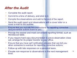 cover letter auditor quality audits training for auditors