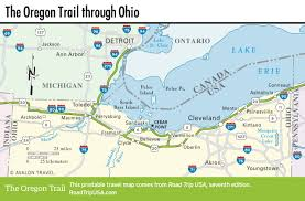 Appalachian Trail Massachusetts Map by The Oregon Trail Through Ohio Road Trip Usa