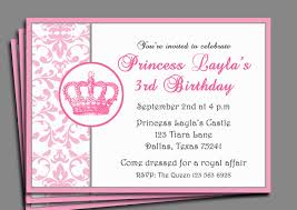 Invitation Cards Birthday Party Birthday Invites Wonderful Princess Birthday Party Invitations