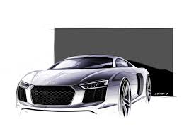 2016 audi r8 design sketches are something to geek over