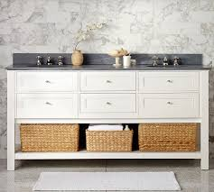 Bathroom Sink Console by Classic Double Sink Console White Pottery Barn