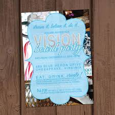 holiday christmas vision board party invitation