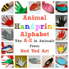 handprint animal alphabet a z animal alphabet animal and children s