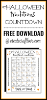 halloween traditions printable create craft love