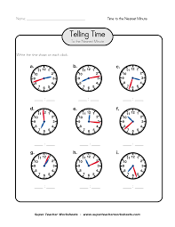 time to the minute worksheets worksheets for kids u0026 free printables