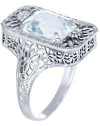 alexis bittar 1925 art deco filigree box engagement ring with old