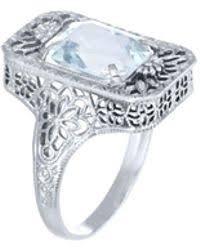 astley clarke mini astley aquamarine ring in blue lyst