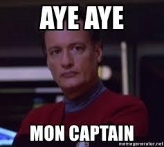 Meme Generator Star Trek - aye aye mon captain star trek q meme generator