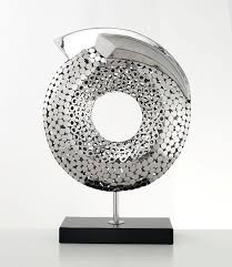 Decorative Sculptures For The Home Catalyst Abstract Sculpture Polished Steel On Marble