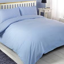 oxford stripe madison blue white pinstripe double duvet quilt