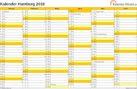 Kalender 2018 Hamburg Brückentage Feiertage 2018 Hamburg Kalender