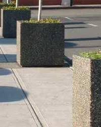 commercial steel and concrete planters nikls