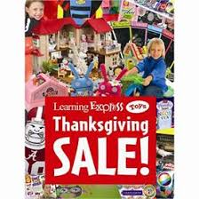 thanksgiving sale sign for learning express