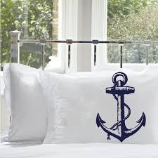 Anchor Comforter Amazon Com Navy Blue Ships Anchor Nautical Pillowcase 1 Case