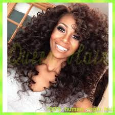 black women with 29 peice hairstyle cheap brazilian lace front wig kinky curly full lace human hair