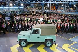 final land rover defender rolls out of solihull assembly plant
