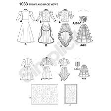 Day Of The Dead White Pattern For Misses U0027 Day Of The Dead Costumes Simplicity