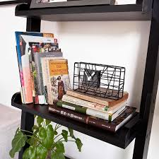 Book Or Magazine Ladder Shelf by Amazon Com Haotian Modern Ladder Bookcase Made Of Wood Book