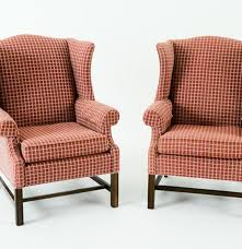 Wingback Chairs For Sale Pair Of Ethan Allen Wingback Chairs Ebth