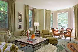 Green Color Curtains 25 Green Living Rooms And Ideas To Match