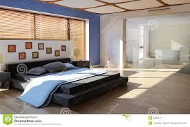 chambre luxe avec chambre à coucher de luxe moderne avec la salle de bains