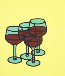 cartoon wine glass patrick caulfield wine glasses 1969 available for sale artsy