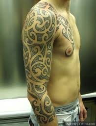 full sleeve tribal tattoo