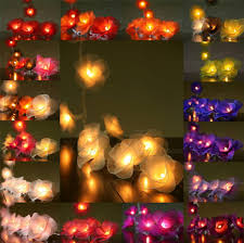 Rose Lights String 20 or 35 led nylon rose flower aus plug string fairy lights